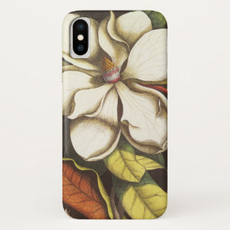 Vintage Magnolia Flowers Plant With Seeds iPhone X Case