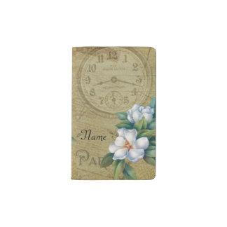 Vintage Magnolia Flowers Pocket Moleskine Notebook