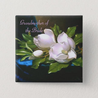 Vintage Magnolia Grandmother/Bride Button