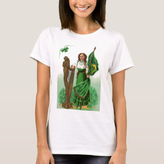 Vintage Maid Harp Of Erin St Patrick's Day Card T-Shirt