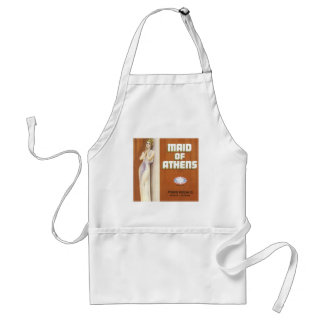 Vintage Maid of Athens Fruit Crate Label Adult Apron