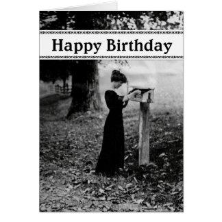Vintage Mailbox Happy Birthday Card