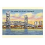 Vintage Main Street Bridge Jacksonville Postcard