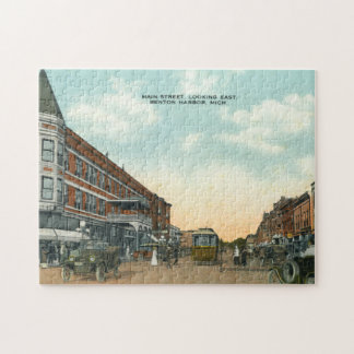 Vintage Main Street East Benton Harbor Michigan Jigsaw Puzzle