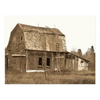 Vintage Maine Barn Postcard