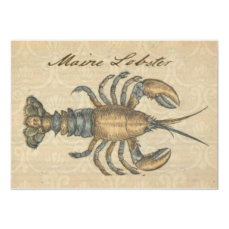 Vintage Maine Lobster Seafood Party Invitation