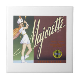 Vintage Majorette Fruit Crate Label Tile