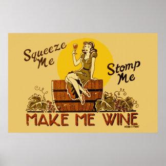Vintage Make Me Wine Reissued Poster