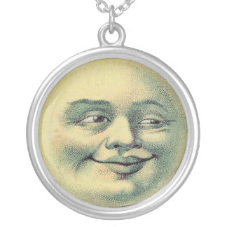 Vintage Man in the Moon necklace