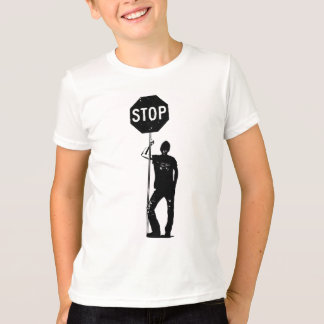 Vintage man with stop sign art T-Shirt