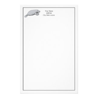Vintage Manatee Drawing Stationery