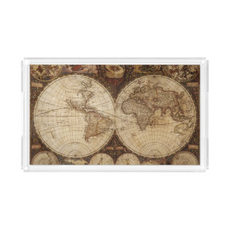 Vintage Map Acrylic Tray
