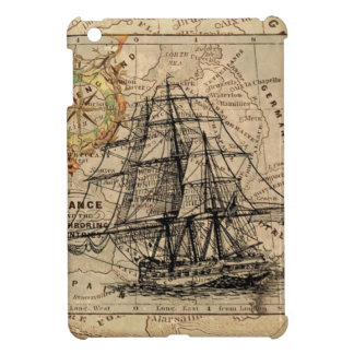Vintage Map and Ship iPad Mini Covers