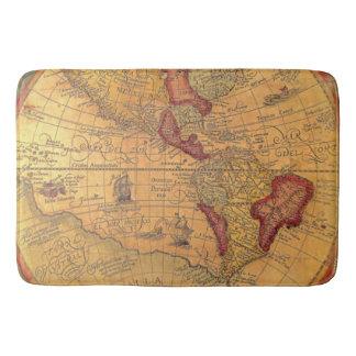 Vintage Map Bath Mats