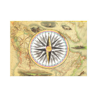VINTAGE MAP CANVAS PRINT