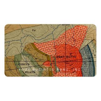 Vintage Map Detail / Bear Butte / Circus Flats Business Card Templates