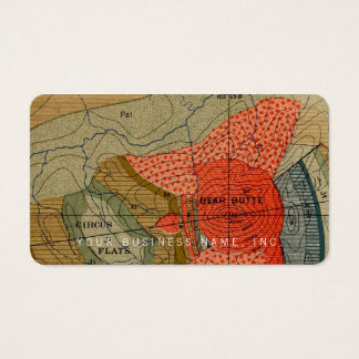 Vintage Map Detail / Bear Butte / Circus Flats Business Card