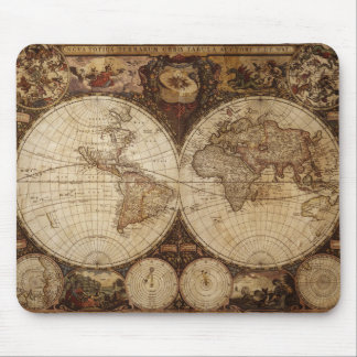 Vintage Map Mouse Pad