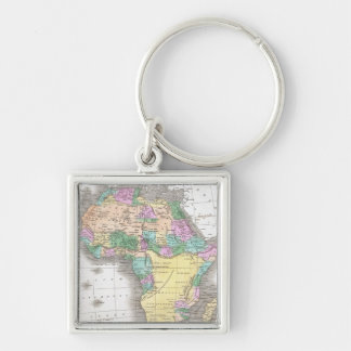 Vintage Map of Africa 1827 Keychains