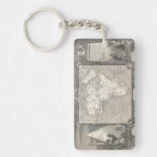 Vintage Map of Africa keychain