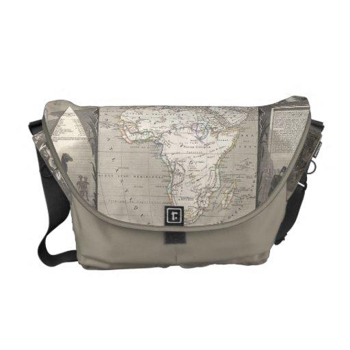 Vintage Map of Africa messenger bag