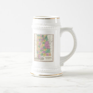 Vintage Map of Alabama 1827 Coffee Mugs