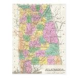 Vintage Map of Alabama (1827) Post Cards