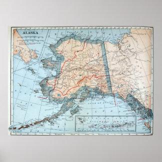 Vintage Map of Alaska (1921) Poster