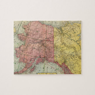 Vintage Map of Alaska and Canada (1901) Jigsaw Puzzle