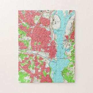 Vintage Map of Alexandria Virginia (1965) Jigsaw Puzzle