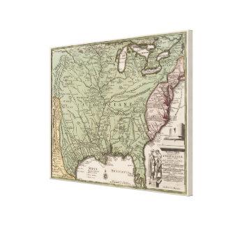 Vintage Map of America (1719) Canvas Print
