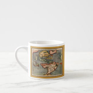 Vintage Map of America by Sebastian Munster Espresso Cup