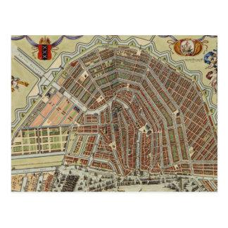 Vintage Map of Amsterdam (1688) Postcard