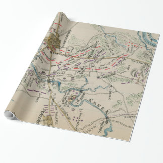 Vintage Map of Antietam Battlefield (1865) Wrapping Paper
