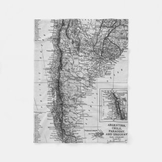 Vintage Map of Argentina (1911) Fleece Blanket