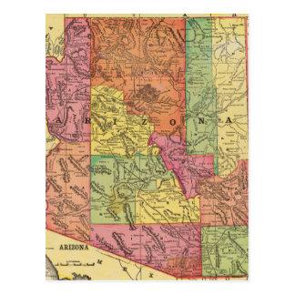 Vintage Map of Arizona 1909 Post Card
