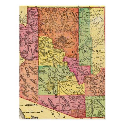 Vintage Map of Arizona (1909) Post Card