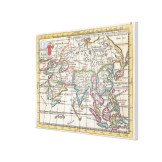 Vintage Map of Asia (1706) Canvas Print