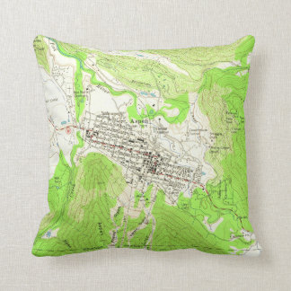 Vintage Map of Aspen Colorado (1960) Cushion