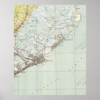 Vintage Map of Atlantic City NJ (1941) Poster