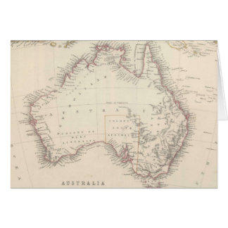 Vintage Map of Australia (1848) Greeting Card