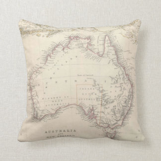 Vintage Map of Australia (1848) Throw Cushion
