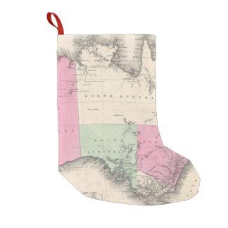 Vintage Map of Australia (1862) Small Christmas Stocking