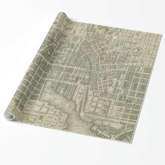 Vintage Map of Baltimore Maryland (1832) Wrapping Paper