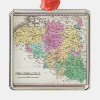 Vintage Map of Belgium (1827) Metal Ornament