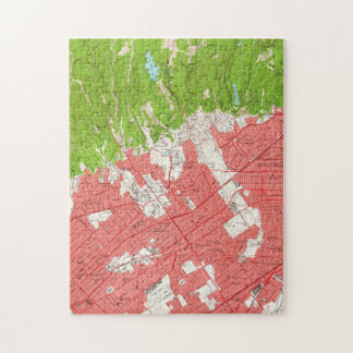 Vintage Map of Beverly Hills California (1950) 2 Jigsaw Puzzle