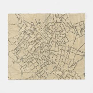 Vintage Map of Birmingham England (1809) Fleece Blanket