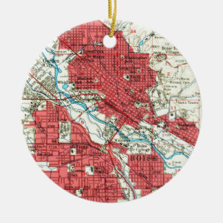 Vintage Map of Boise Idaho (1954) Ceramic Ornament