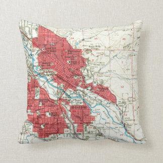 Vintage Map of Boise Idaho (1954) Cushion