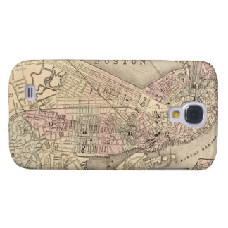 Vintage Map of Boston (1880) Galaxy S4 Cover